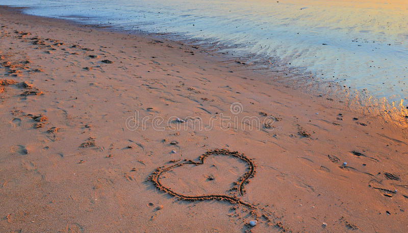 Hear in the sand royalty free stock images