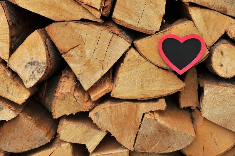 Hearft på trä royaltyfria bilder
