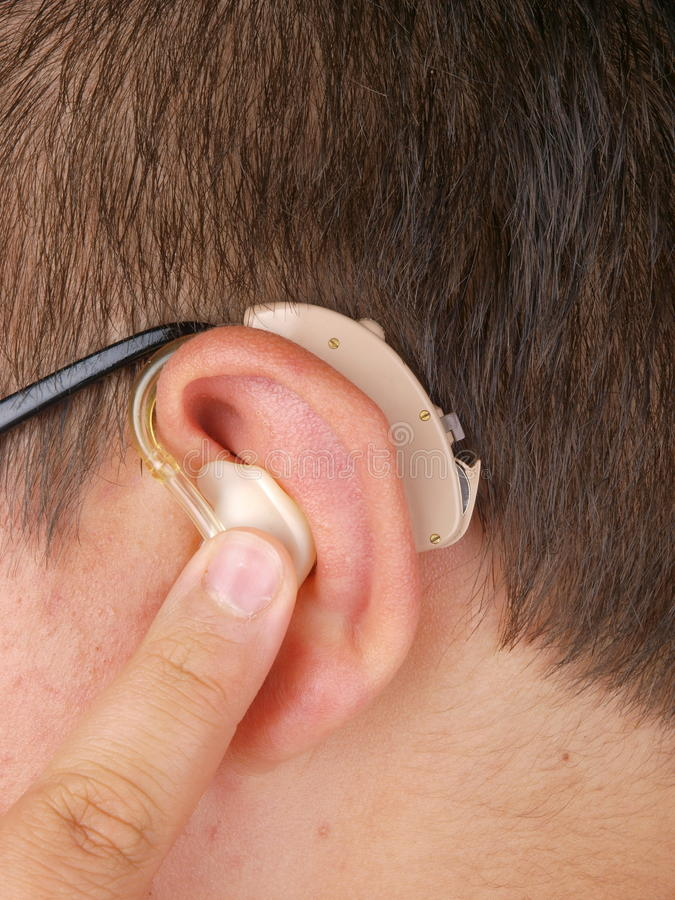Hearing aid stock images