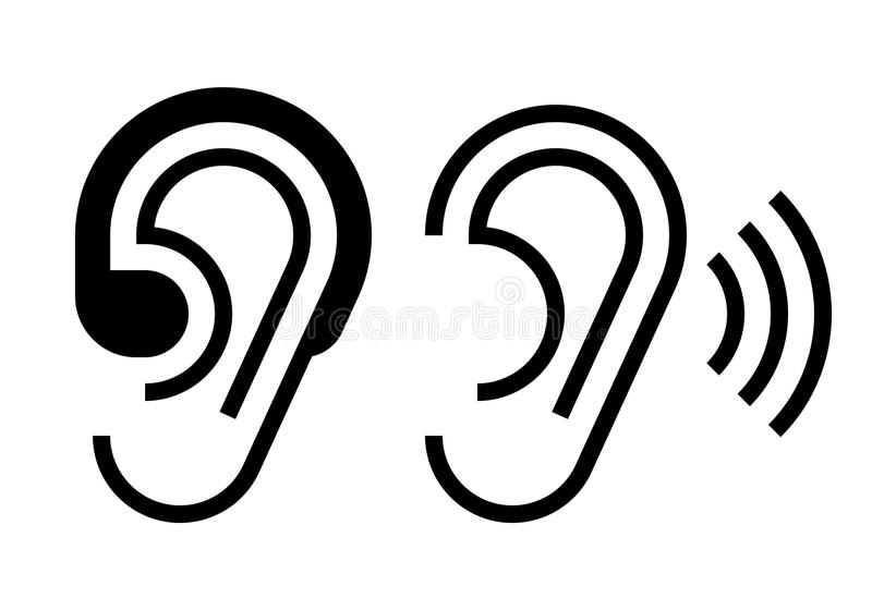Hearing Aid And Ear Icon Stock Vector Illustration Of Music 101481132
