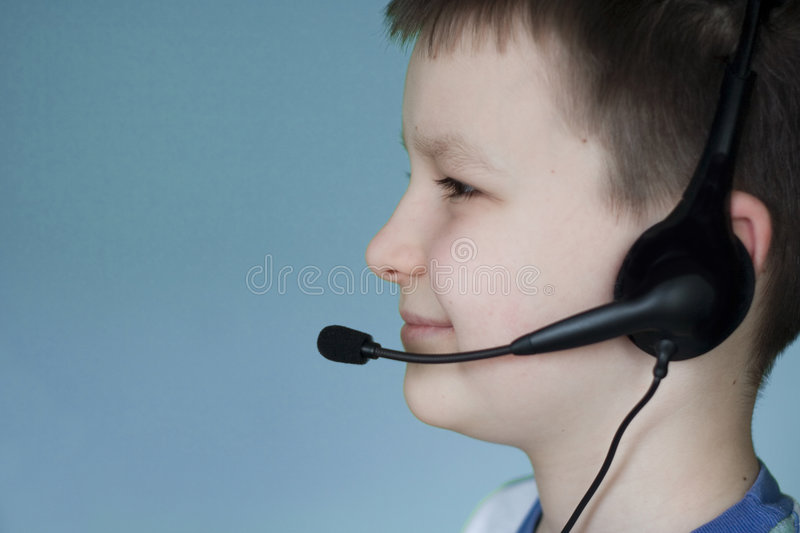 Download Hearing boy stock image. Image of happy, business, play - 513073