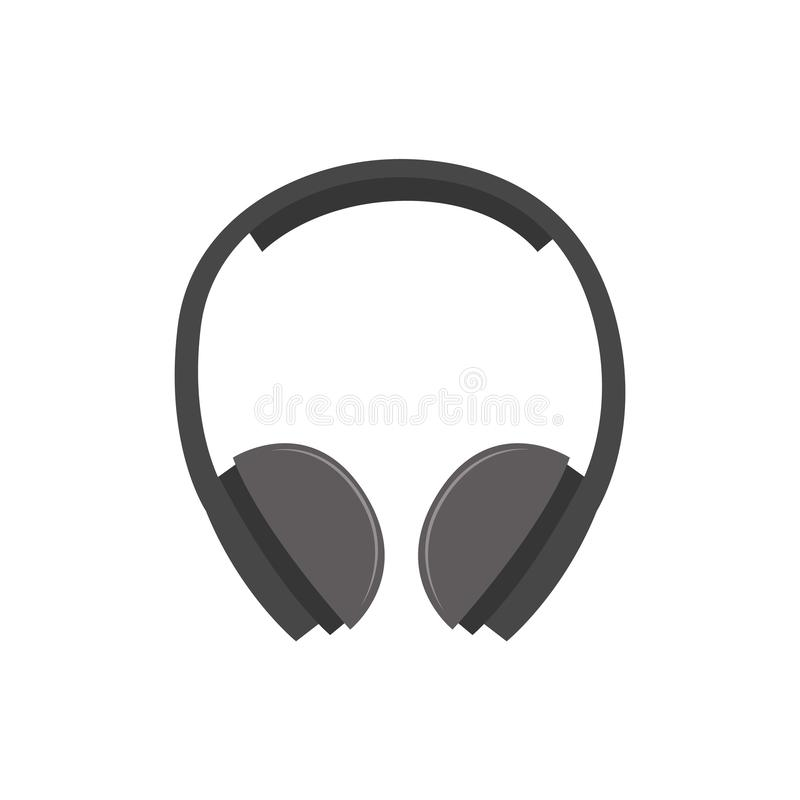 Hearing protection industrial ear muffs or headphones vector isolated on white. royalty free illustration