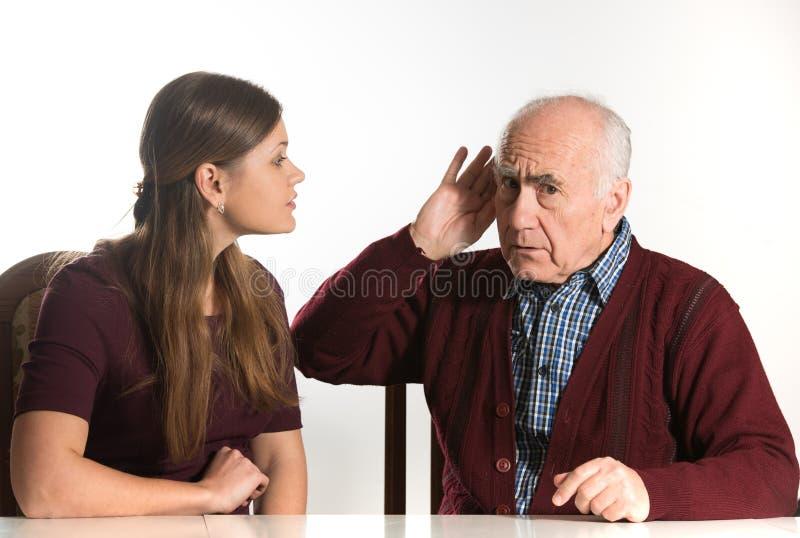 Hearing test stock photos