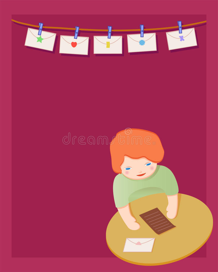 Download Hearing from you stock illustration. Image of cute, child - 12270551
