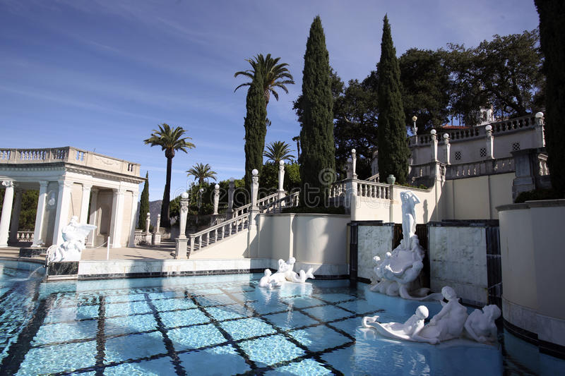 Hearst Castle Pool stock photography
