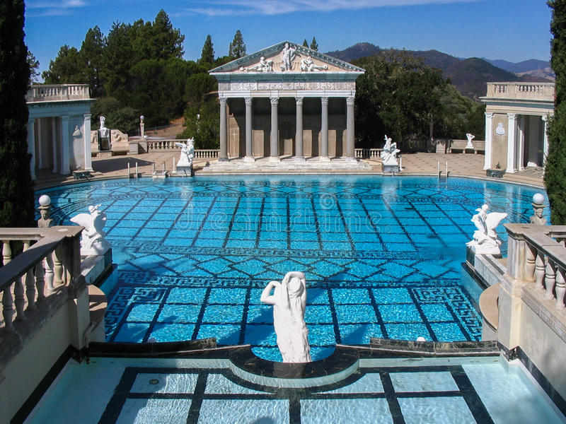 Hearst Castle Pool California royalty free stock photo