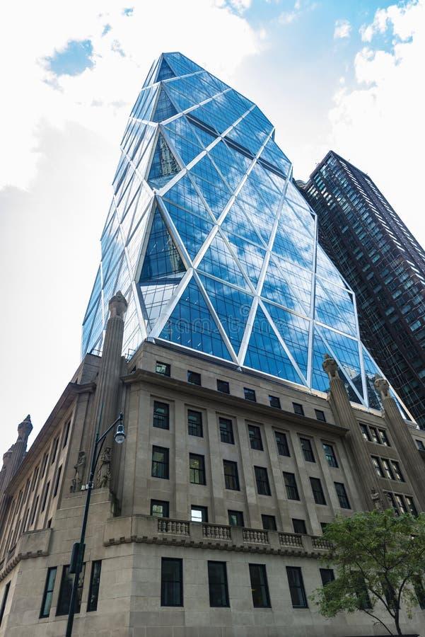 Hearst Tower in Manhattan, New York City, USA royalty free stock photos
