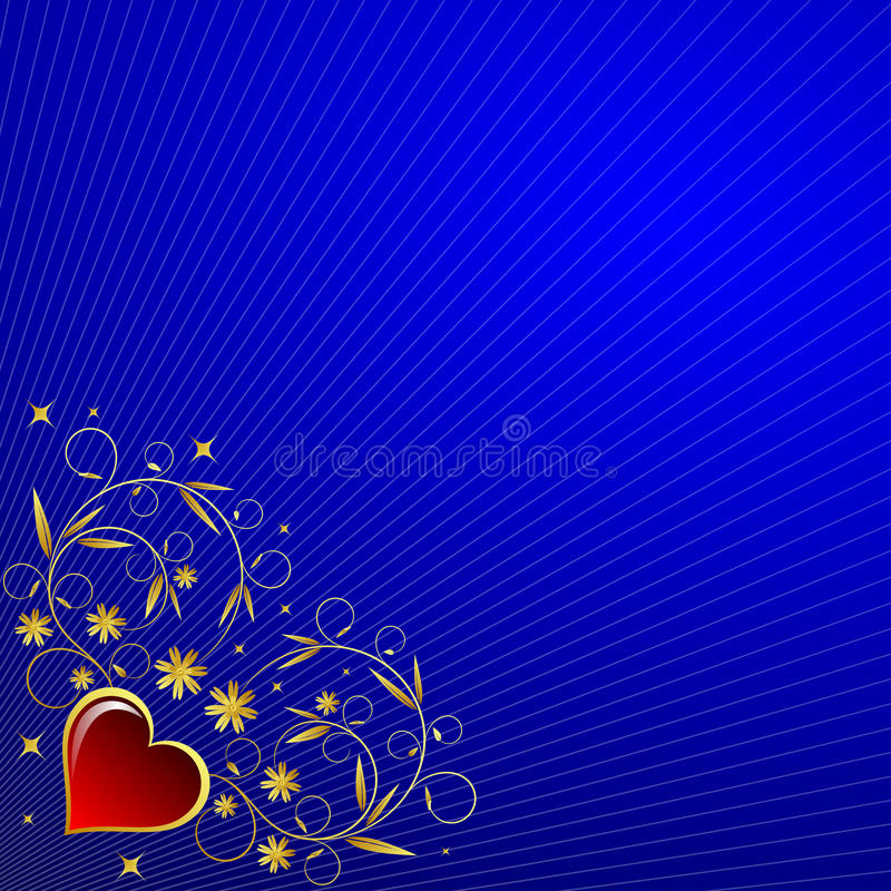 Download Heart stock illustration. Illustration of gold, drawing - 11232387