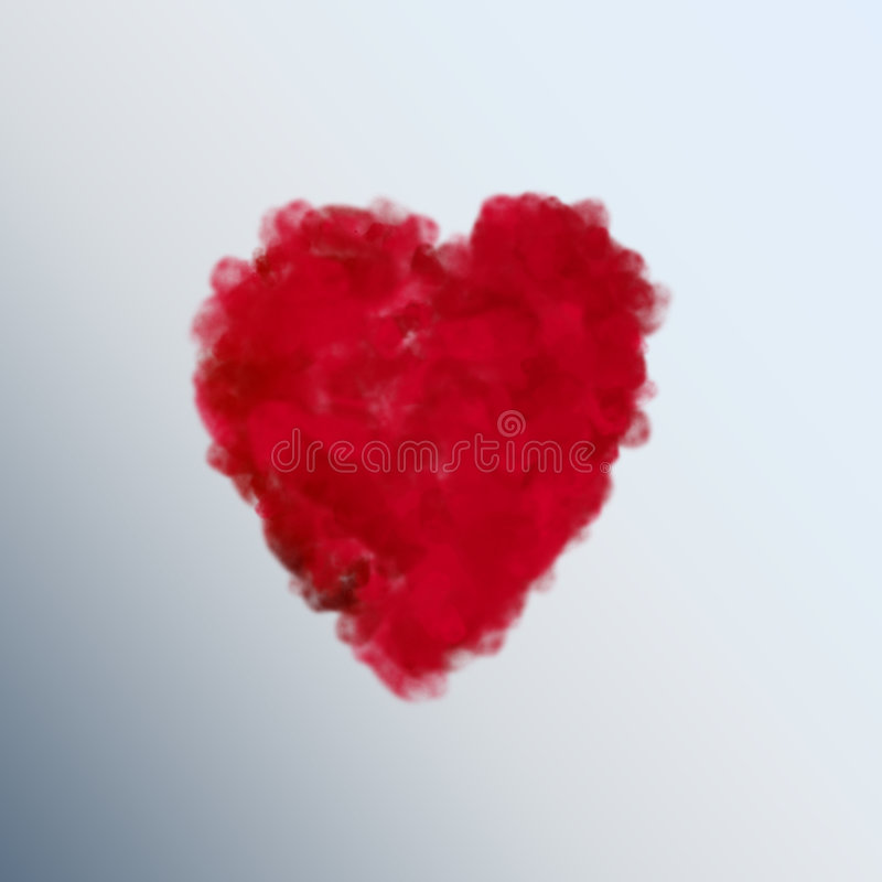 Heart. Red heart, cloudy heart, love, happy, passion royalty free illustration