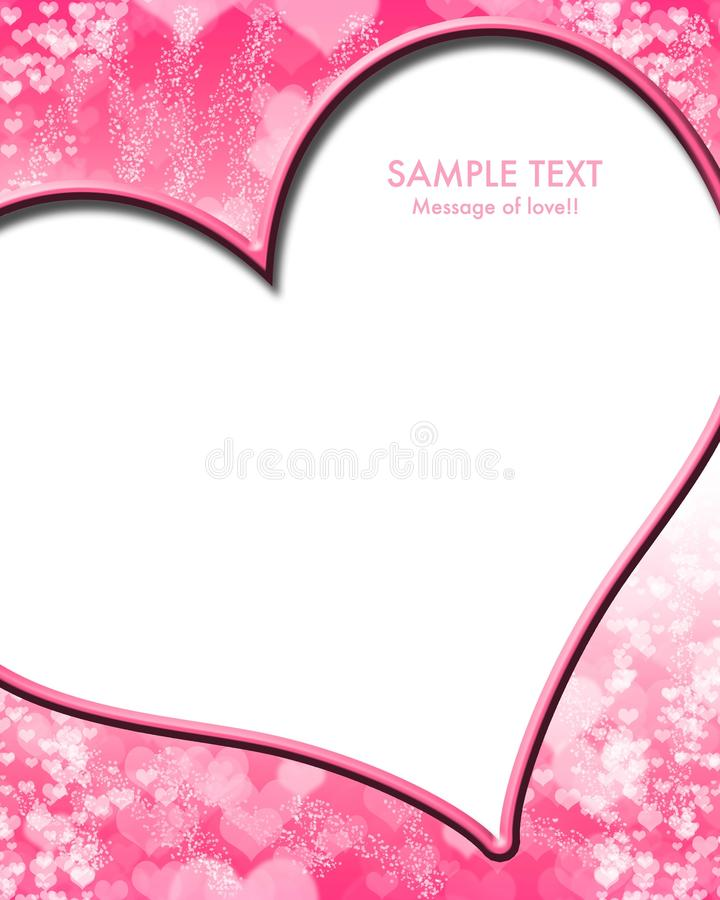 Heart. Beautiful colorful heart shape background royalty free illustration