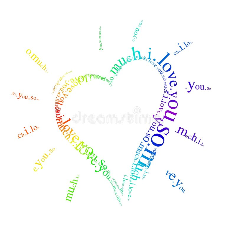 Download Heart stock illustration. Image of love, passion, typographic - 1515310