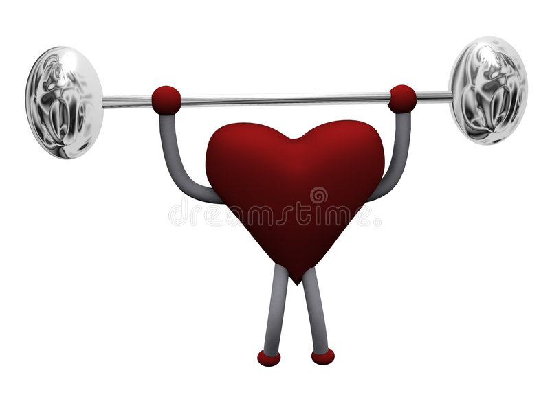 Heart 3d stock illustration
