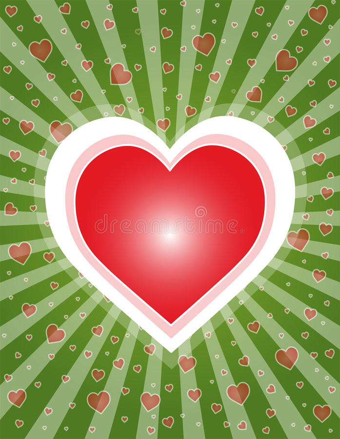 Heart. Lovely heart on lilac background, vector illustration. Suits well for a postcard or background vector illustration