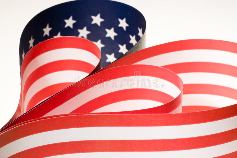Heart. Make out of american flag royalty free stock photo