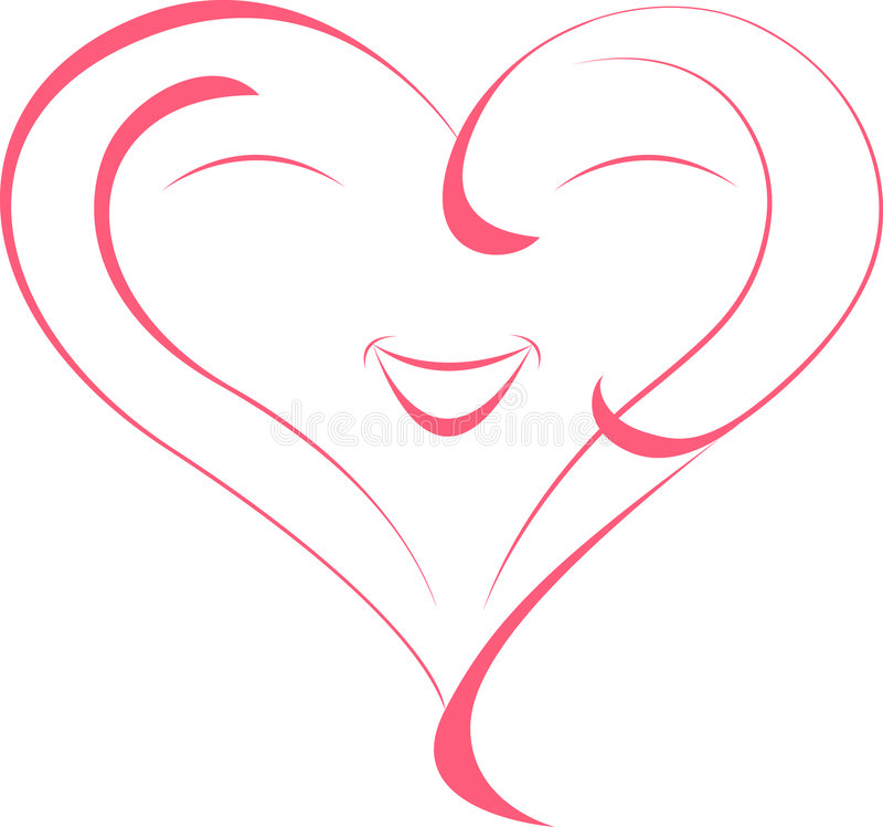 Heart. Stylized red heart. Element for design stock illustration