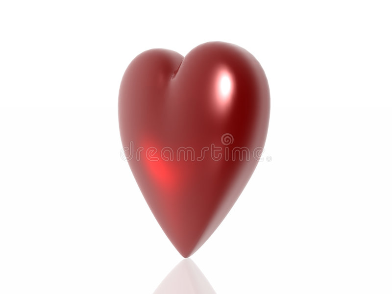 Heart. Valentine heart isolated in white background royalty free illustration