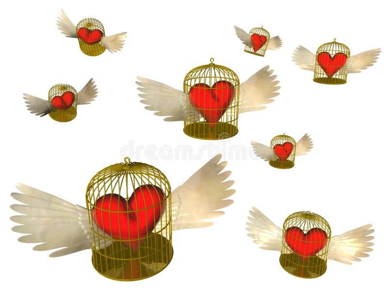 Download Heart stock illustration. Illustration of freedom, cell - 8543883