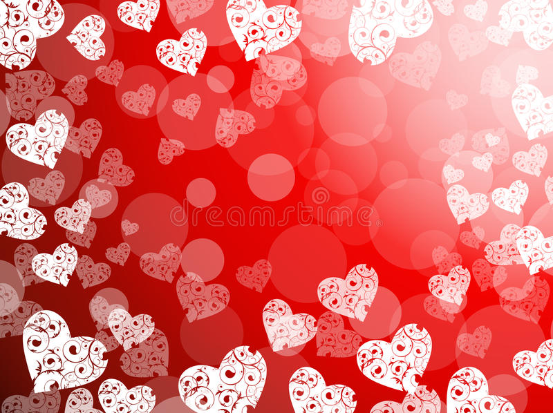 Download Heart abstract background stock illustration. Image of illustration - 12578173