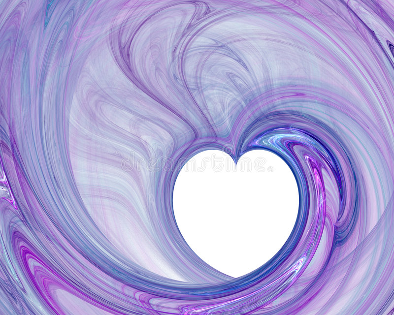 Heart with abstract background royalty free illustration