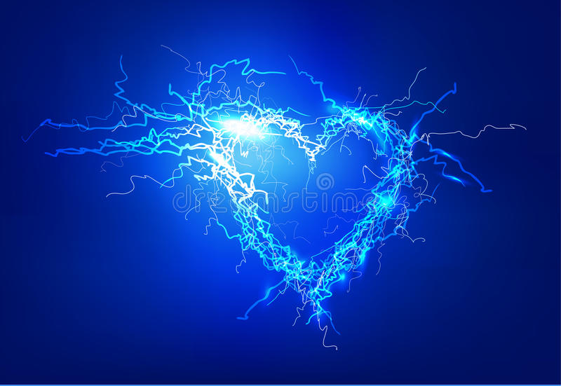 Heart. Abstract background made of Electric lighting effect. Abstract background made of Electric lighting effect. Line stock illustration