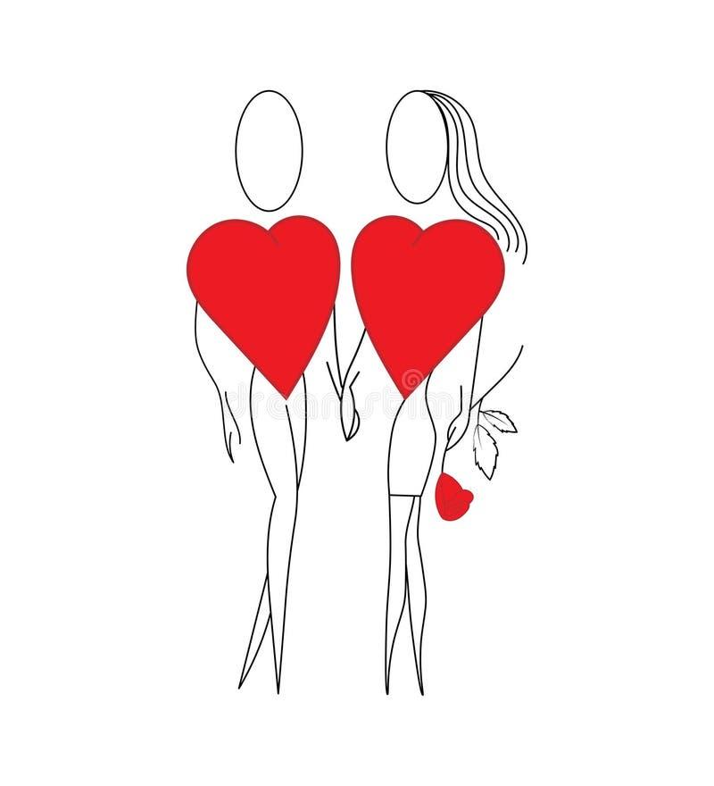 Heart_abstraction stock illustratie