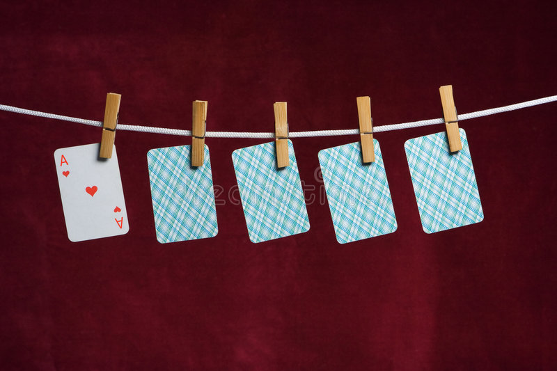Heart Ace And Four Cards Stock Photography