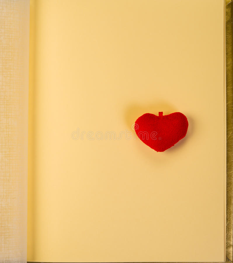 Heart and album royalty free stock photography
