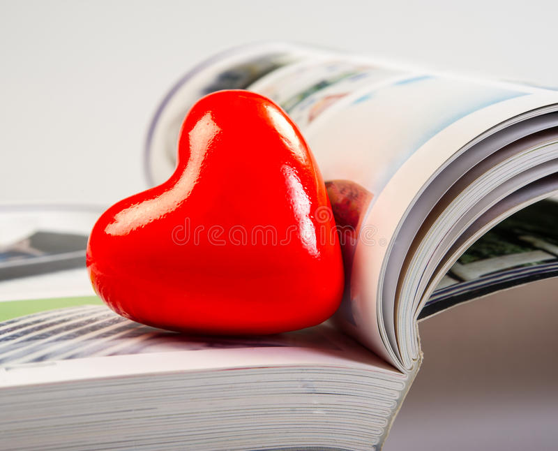 Heart and album stock image