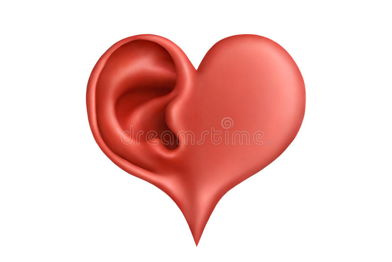 Heart&hearing vektor abbildung