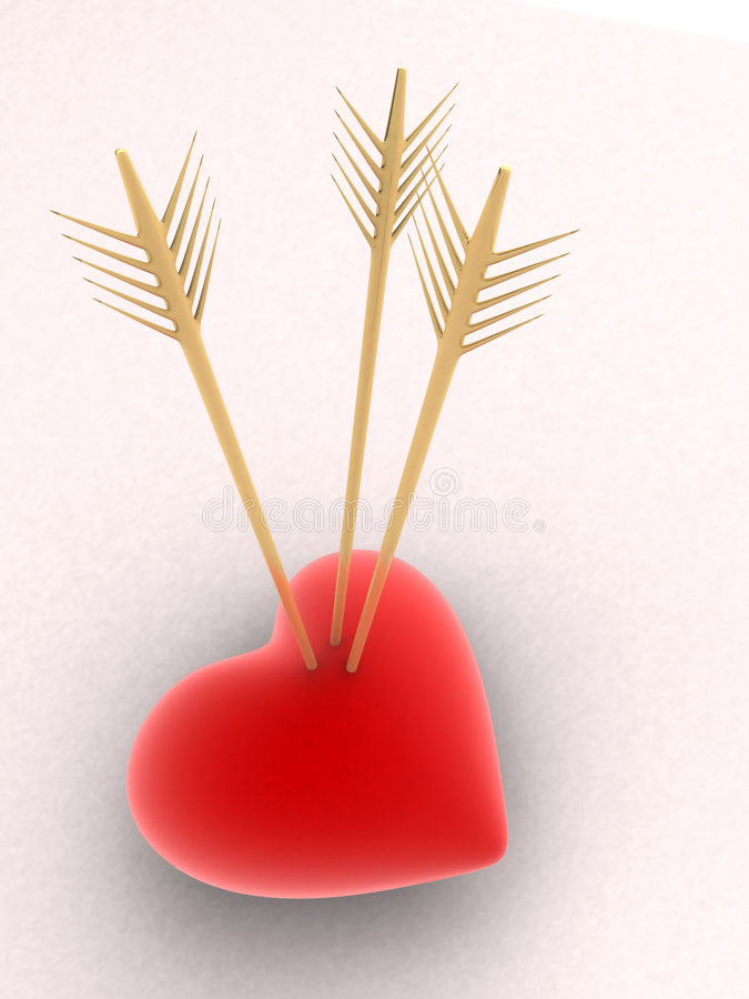 Free Heart And Arrow Royalty Free Stock Images - 1545139