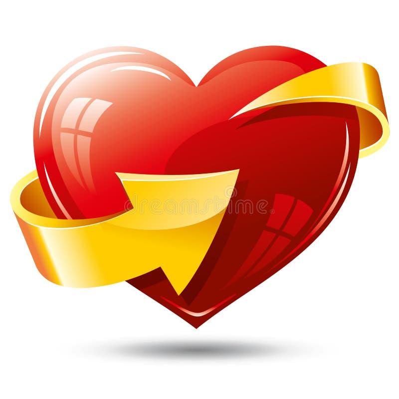 Free Heart And Arrow Royalty Free Stock Photography - 17967357