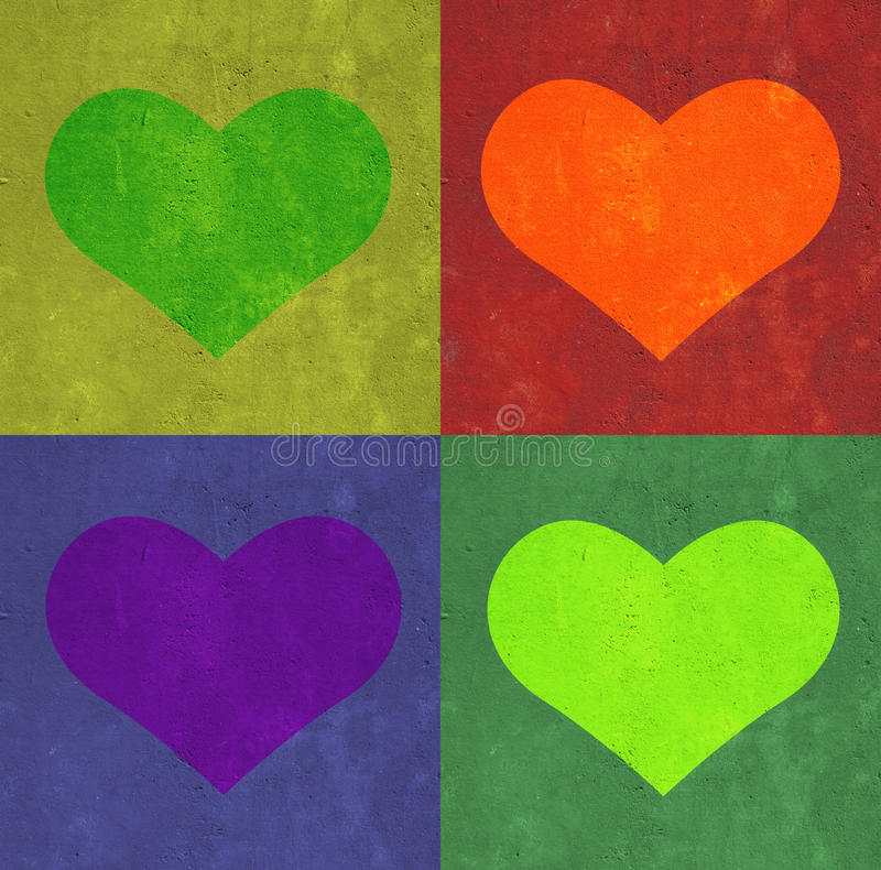 Free Heart And Rectangles Background. Royalty Free Stock Image - 14093296