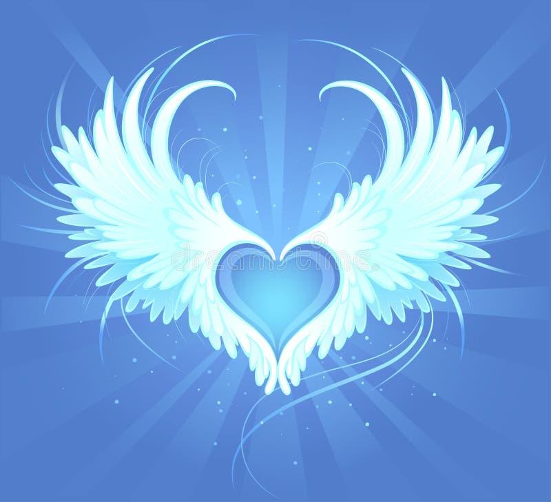 Heart of an angel stock photos