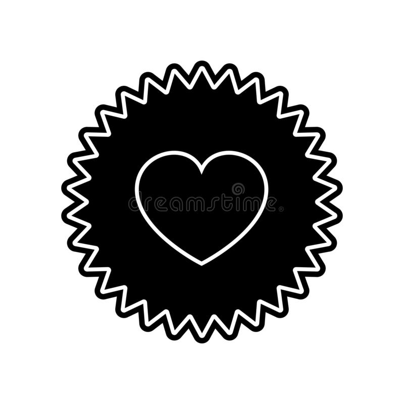 Heart appeal icon. Element of Valentine for mobile concept and web apps icon. Glyph, flat icon for website design and development. App development on white royalty free illustration