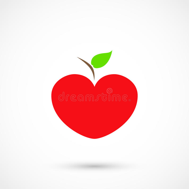 Heart apple vector illustration