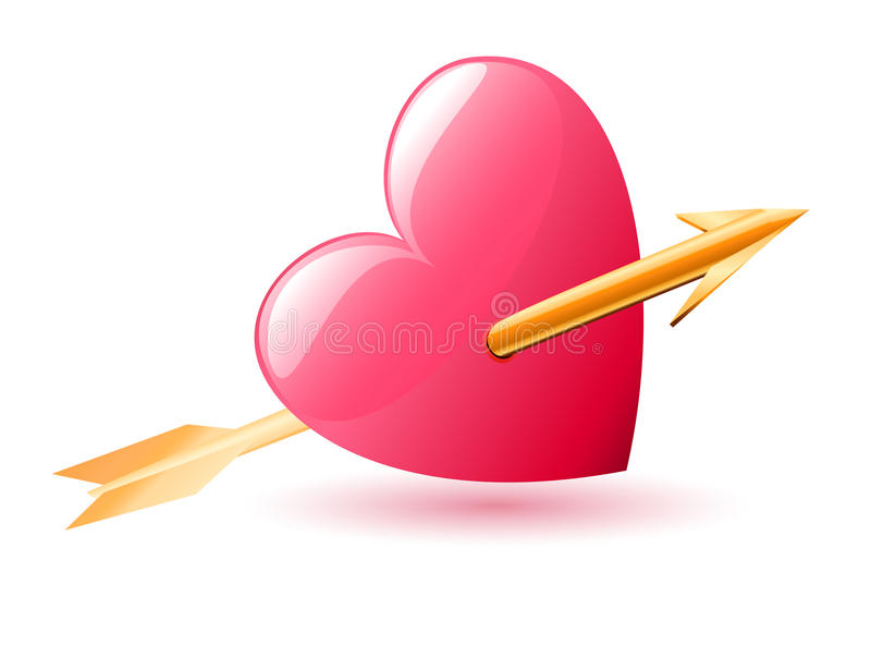 Heart And Arrow Stock Images