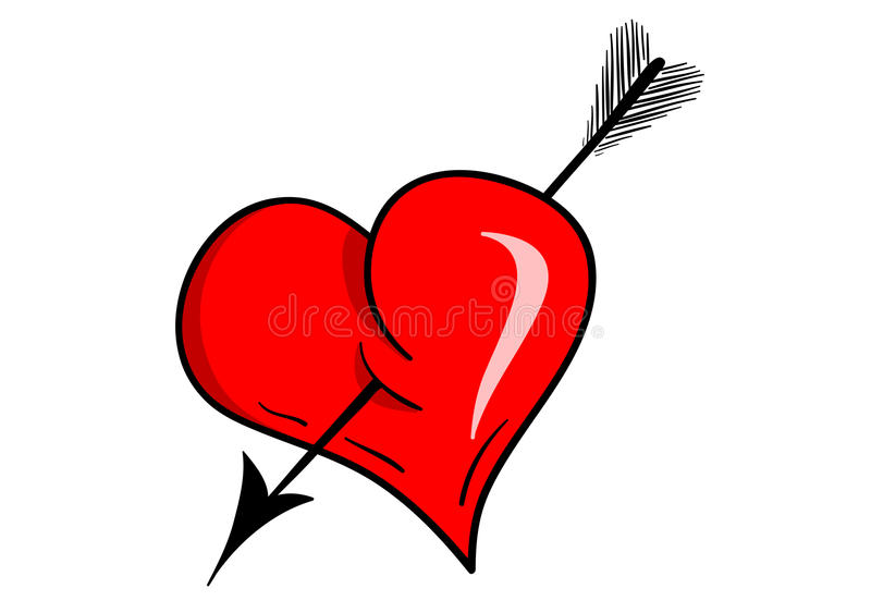 Download Heart arrow stock vector. Illustration of romance, passion - 12623890
