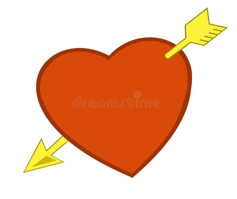 Download Heart And Arrow Royalty Free Stock Images - Image: 553759