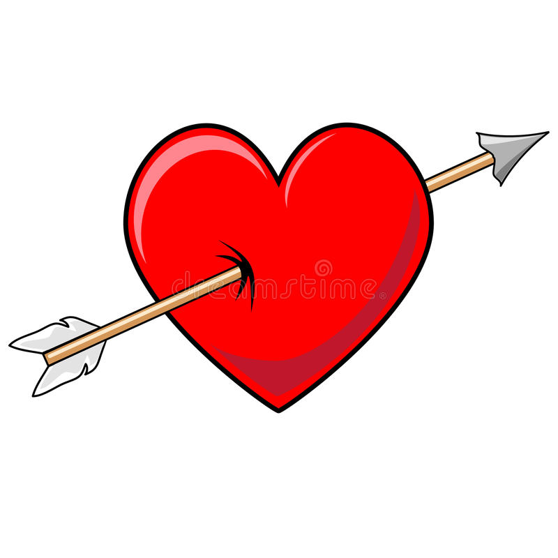 Heart And Arrow Stock Vector - Image: 48877045