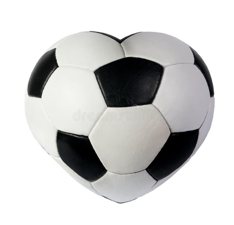 Heart As Black White Soccer Ball Stock Image