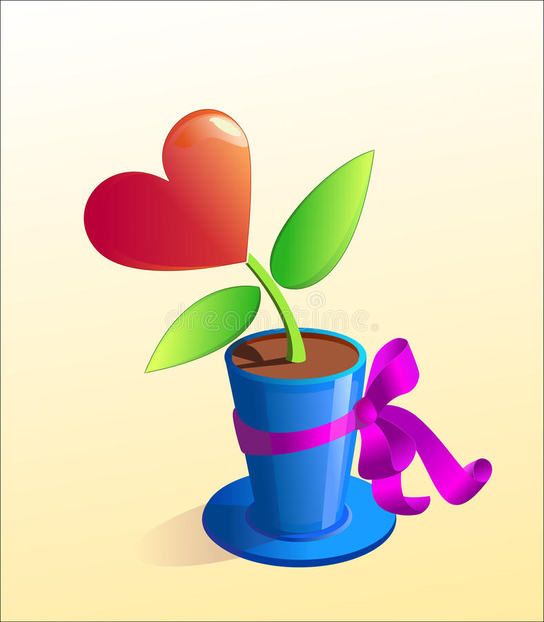 Heart as a present royalty free illustration