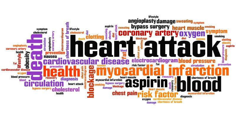 Heart attack stock illustration