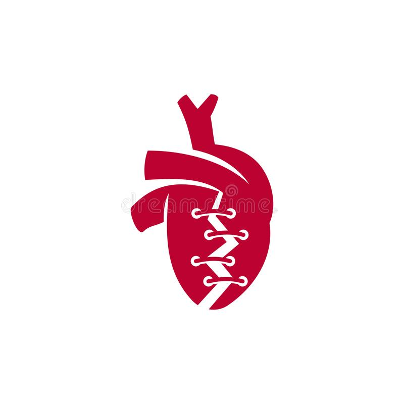 Heart attack risk vector logo icon design Illustration. Heart attack risk vector logo icon design stock illustration