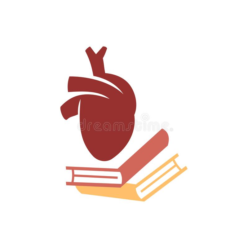 Heart attack risk vector logo icon design Illustration. Heart attack risk vector logo icon design royalty free illustration