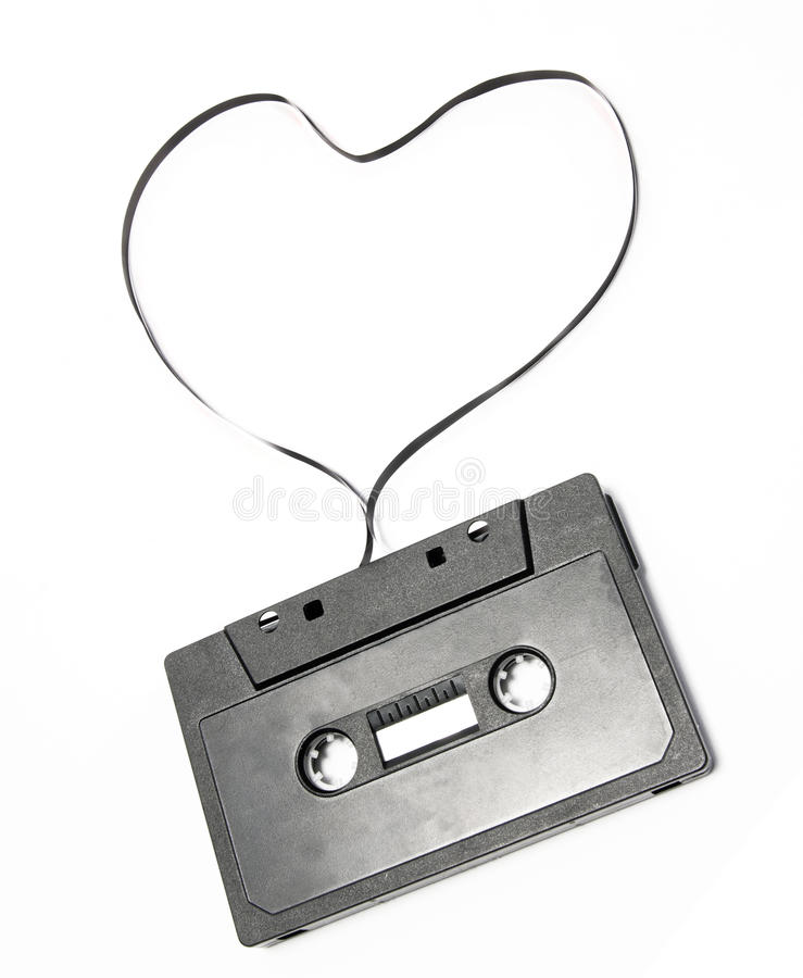 Free Heart Audio Tape Royalty Free Stock Images - 19987309