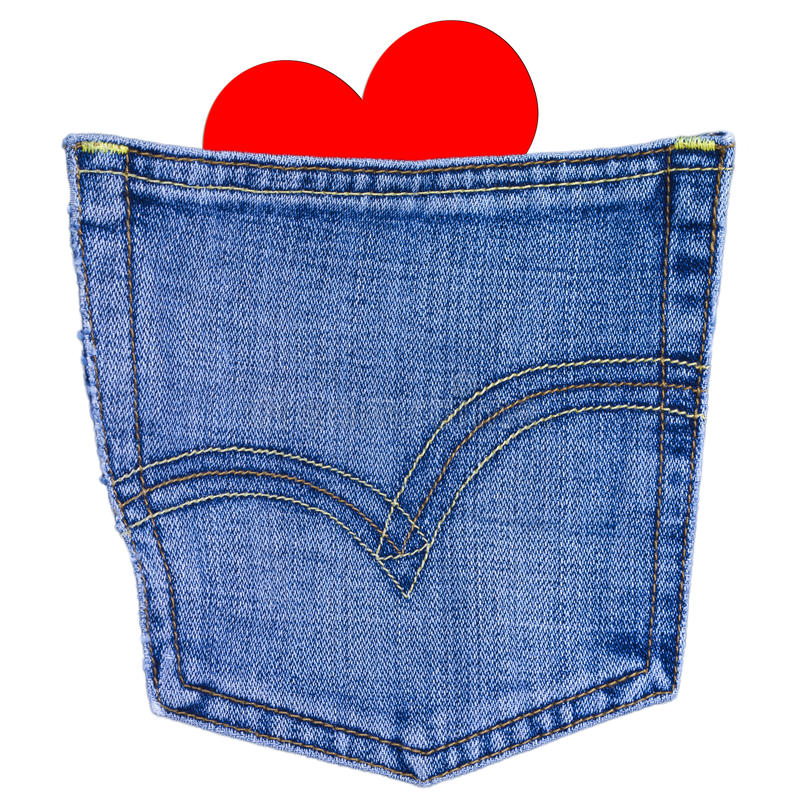 Download Heart in back jeans pocket stock image. Image of stitch - 23261555