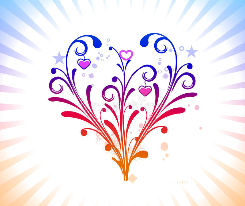 Heart background stock illustration