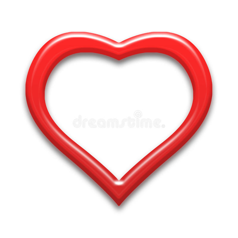 Heart background. Red color tone with royalty free illustration