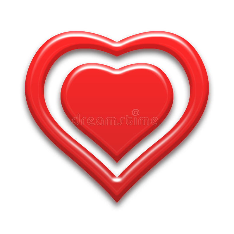 Heart background. Red color tone with stock illustration