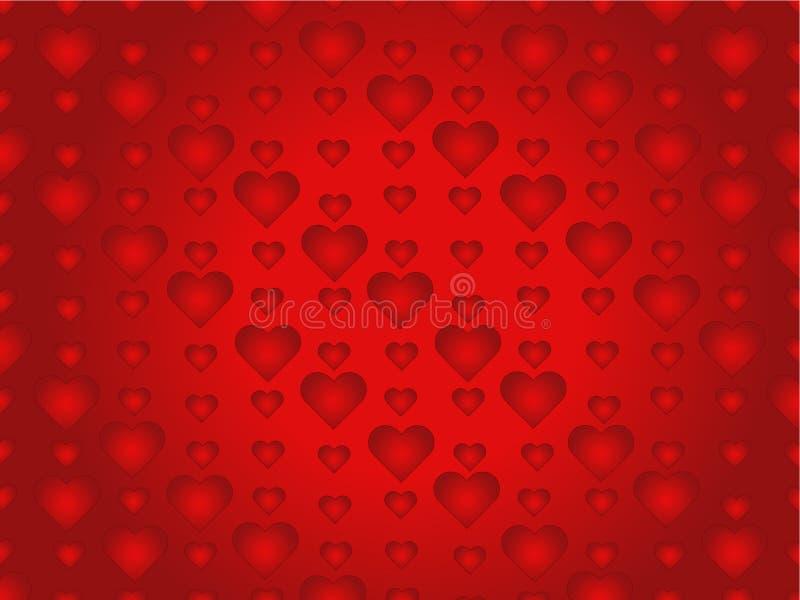 Heart background. Red heart background illustration stock illustration